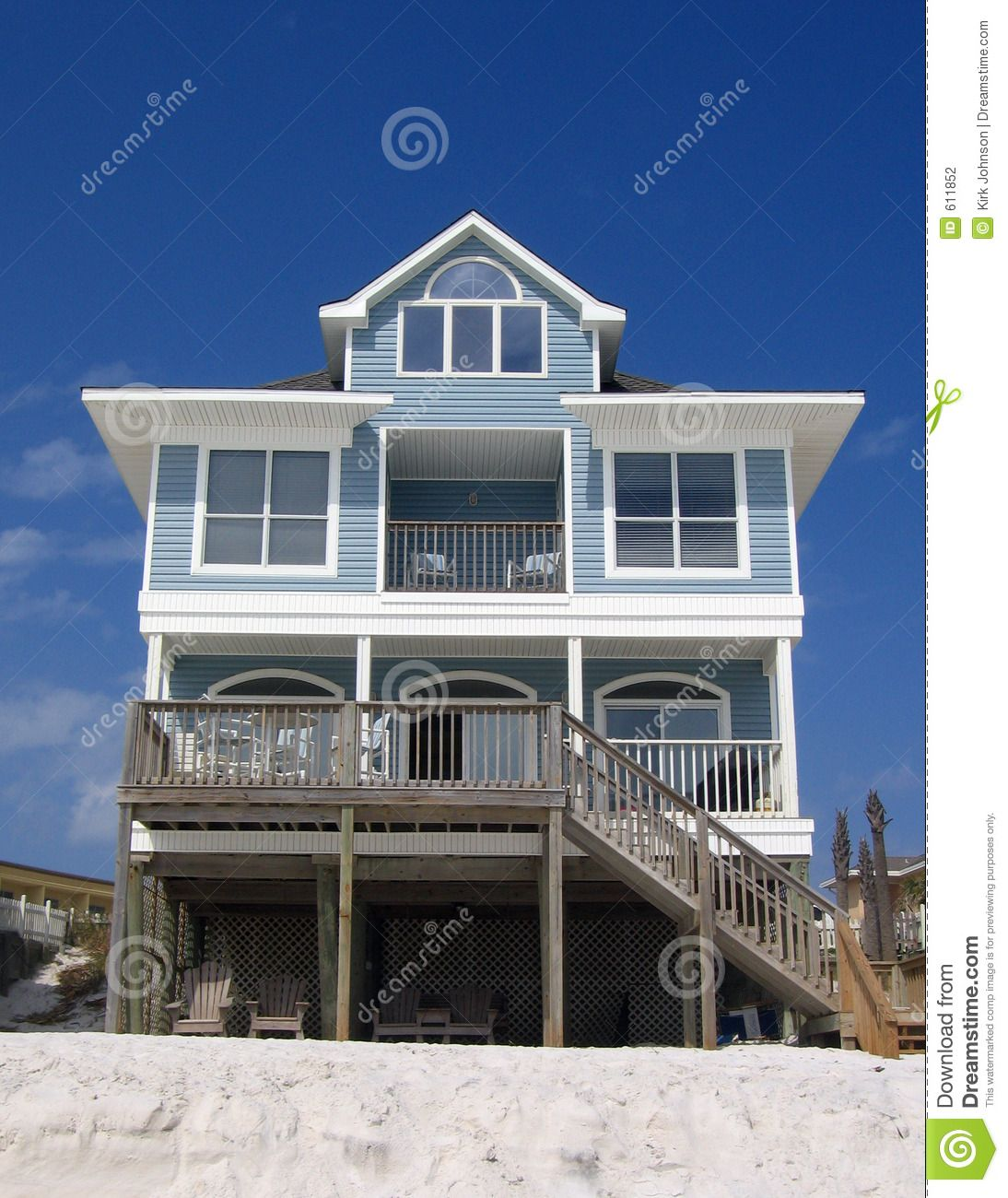 Blue Beach Rental Cottage - Download From Over 65 Million High ... on beach houses in gulf shores, beach house rental in alabama, ranch style homes, dominican republic homes,