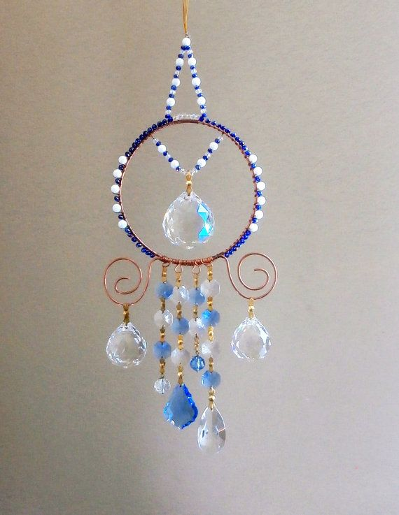 Crystal Suncatcher with large crystals multi by LifeForceEnergy, $54.00