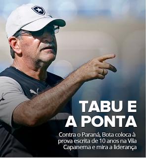 BotafogoDePrimeira: Paraná e Botafogo colocam à prova tabu de 10 anos ...