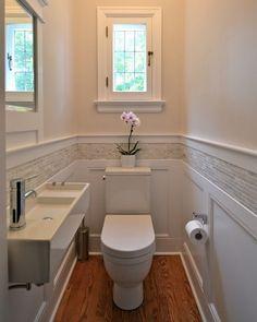 SMALL Narrow BATH Sink Wainscotting Tile