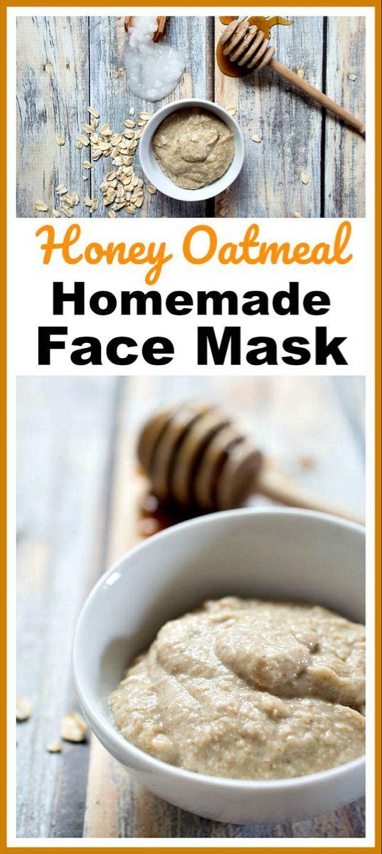 Honey Oatmeal Homemade Face Mask- Easy DIY Beauty Prodcut -   18 beauty Mask ideas