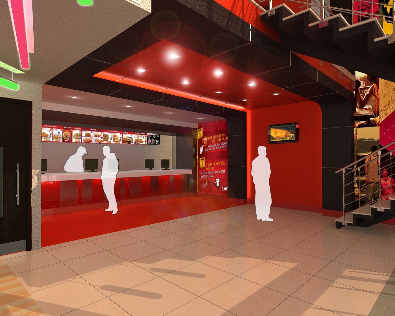 kfc restaurant interior design click this link to view more