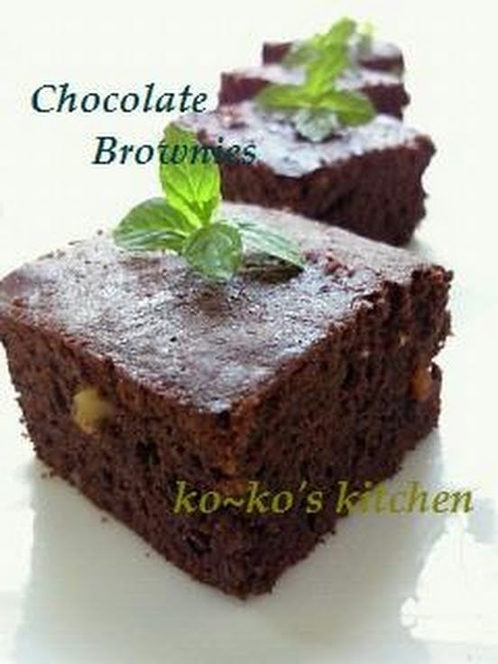 """Extravagant Brownies with Lots of Chocolate! """"These brownies are really rich. They're irresistible for chocolate lovers. Recipe by ko-ko""""  @allthecooks #recipe"""