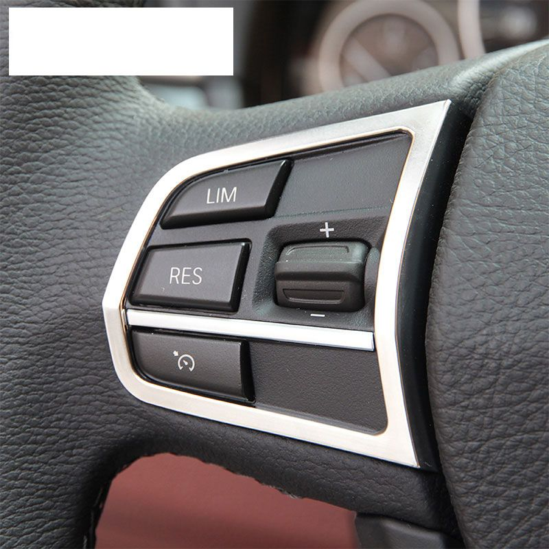 Chrome Interior Accessory Steering Wheel Button Cover Trim For Bmw