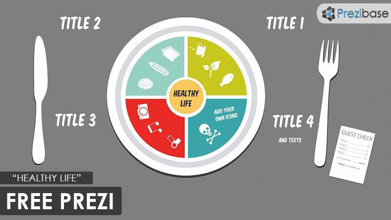 Health And Food Lifestyle Plate Free Prezi Template Prezi