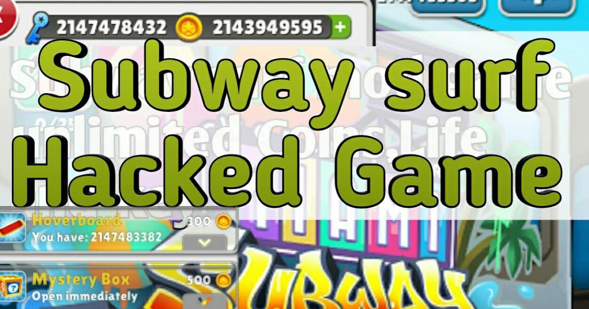 Subway surf Mod Hacked Game unlimited Coins Life and key