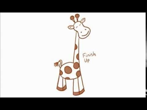big guide to drawing cartoon giraffes with basic shapes for kids how to draw step