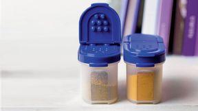 Tupperwaren mini mahtuvat sinisellä kannella, myös käytetty hyvä kuntoinen käy