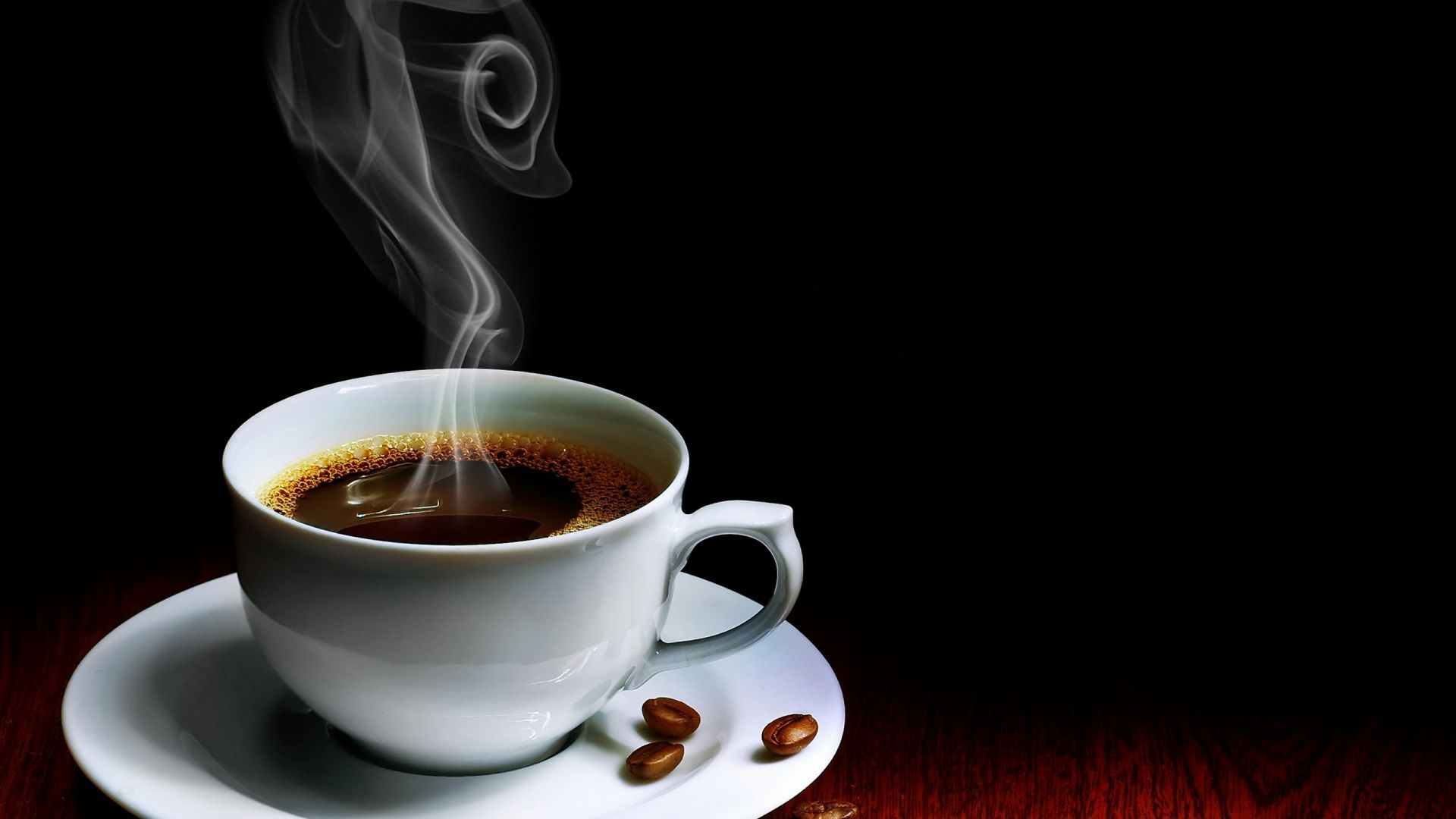 Download Wallpaper 1920x1080 Cup Coffee Steam Hot Grains Table Full Hd 1080p Hd Background Coffee Wallpaper Coffee Facts Coffee Scented Candles