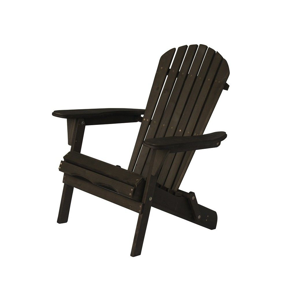 Villaret Wood Adirondack Chair Dark Brown Thy Hom