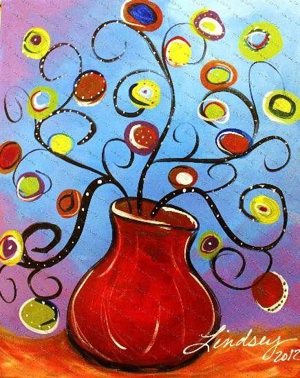 Funky Vase Paintings Pinterest Paintings