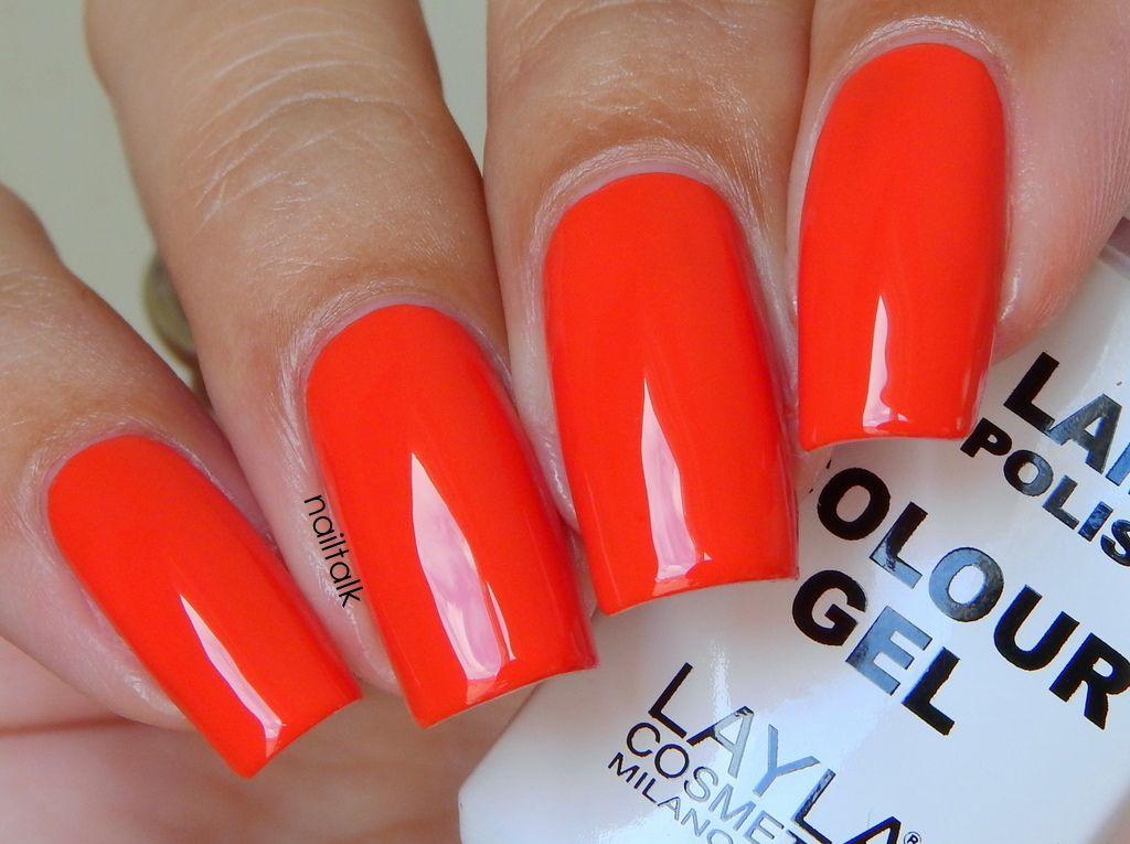 Layla No Lamp Gel Polish 16 Rich Coral 1 | Nail polish | Pinterest