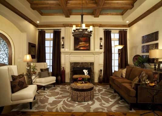 Woodwork on ceiling and beautiful trim