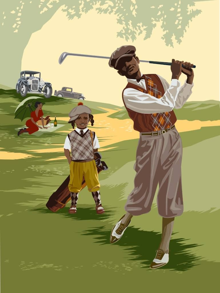 Indigo Golf New Media by Rex Perry | Golf, African american art and ...