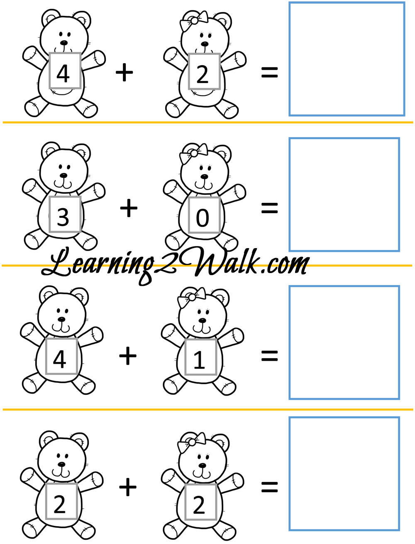 Teddy Bear Kindergarten Worksheet Set | Kindergarten worksheets ...