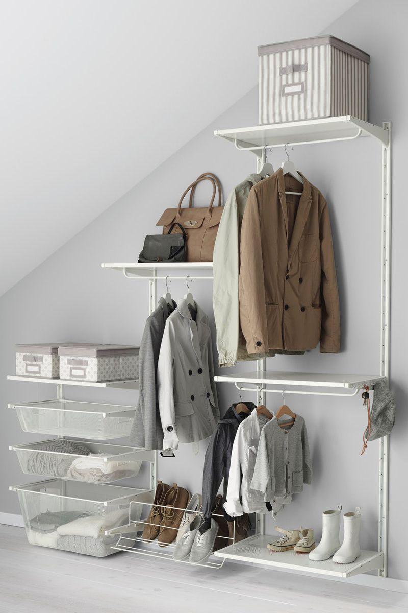 Stauraum Optimal Nutzen In Raumen Mit Dachschrage Ikea Algot Wandschiene Und Boden Ikea Algot Wandschiene Tumblr Zimmer Einrichtung
