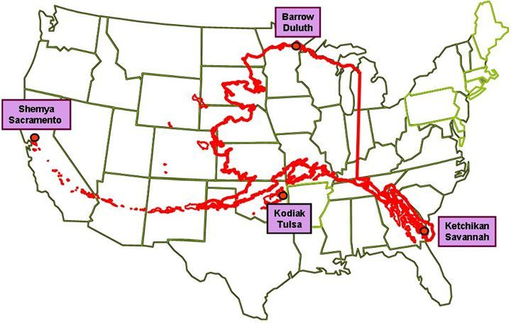 Pin By Shelley McLennan On Want To Go To Alaska Pinterest - Alaska superimposed on us map