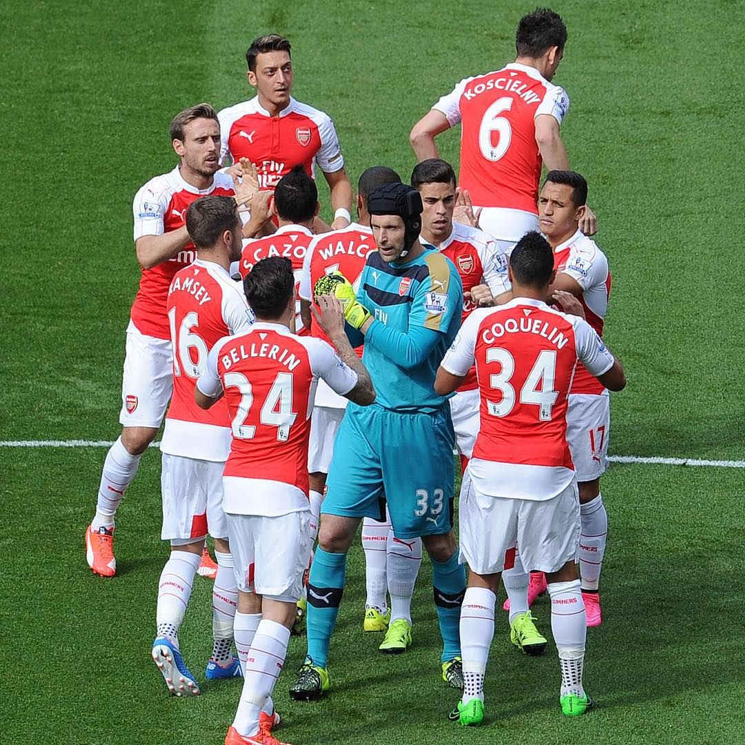 """#Arsenal #teamspirit #Gunners #ThreePoints #AFCvSCFC #victory"""