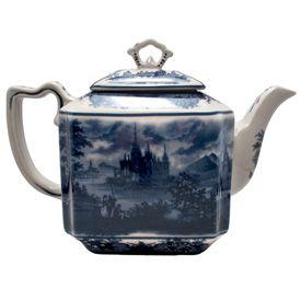 "Toile Blue Teapot 7.5"""