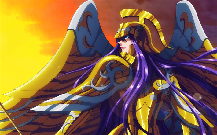 Download Wallpapers Athena Manga Protagonist Saint Seiya Warrior Atena Besthqwallpapers Com Saint Seiya Manga Anime Wallpaper