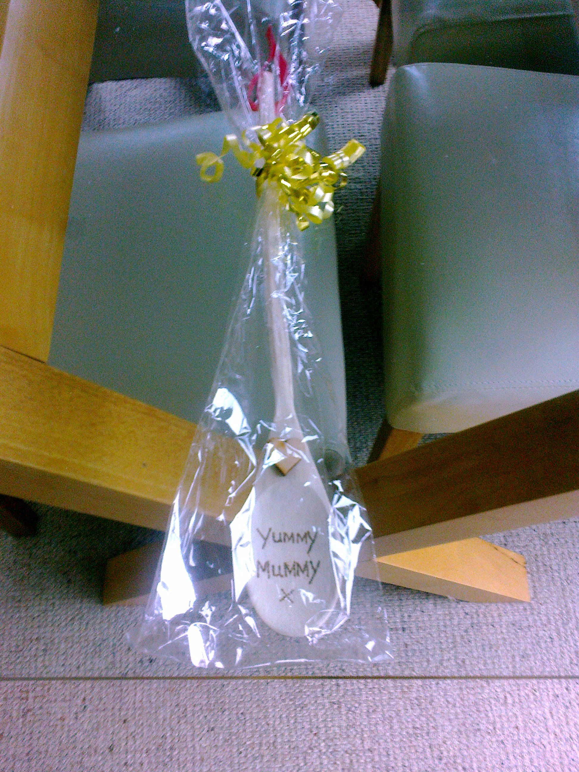 Wooden spoon for a yummy mummy