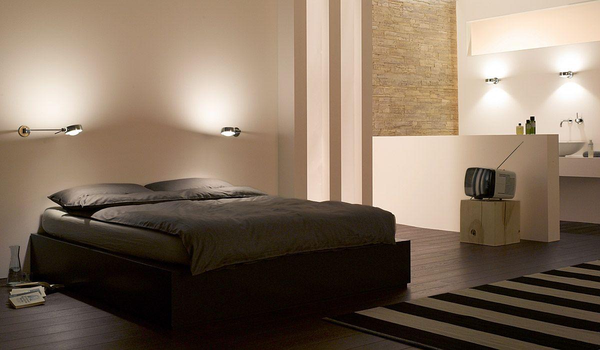 wandleuchte bett khg flammig wei w flexible led. Black Bedroom Furniture Sets. Home Design Ideas