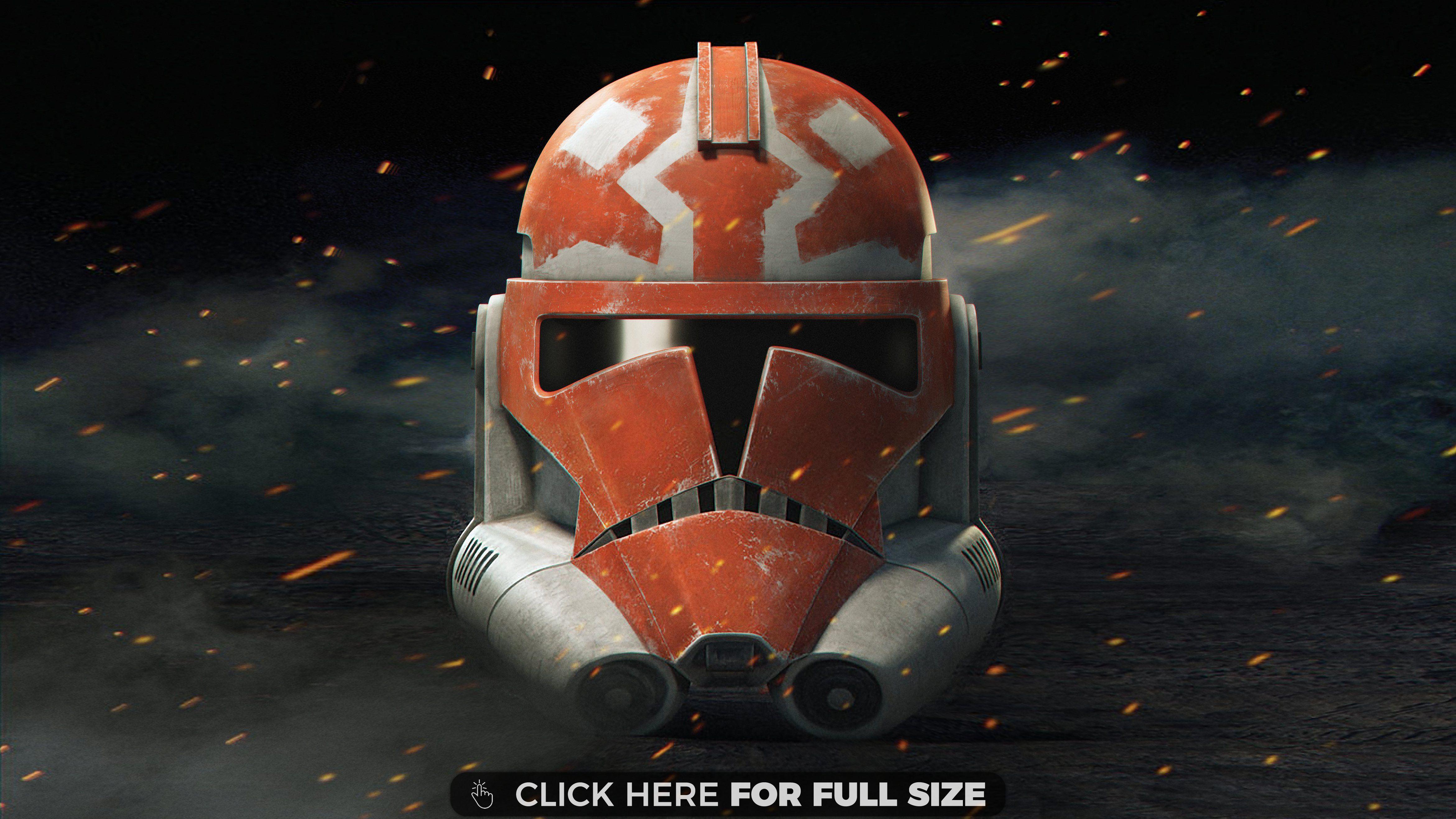 Star Wars The Clone Wars Season Clone Trooper Helmet 4k Wallpaper In 2020 Star Wars Art Star Wars Wallpaper Clone Trooper Helmet