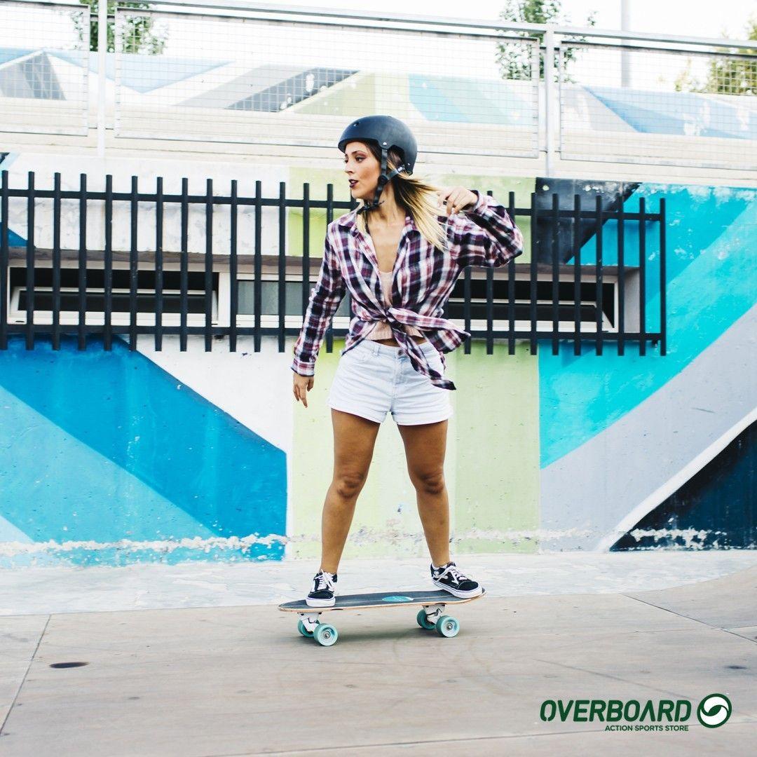 Cabelos ao vento, sorriso no rosto!   Overboard - Skate   Pinterest 2e2d22e307