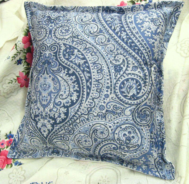 "PILLOW 14/"" x 14/"" //1  YORKSHIRE ROSE  Ralph Lauren fabric Custom TONAL BACK"