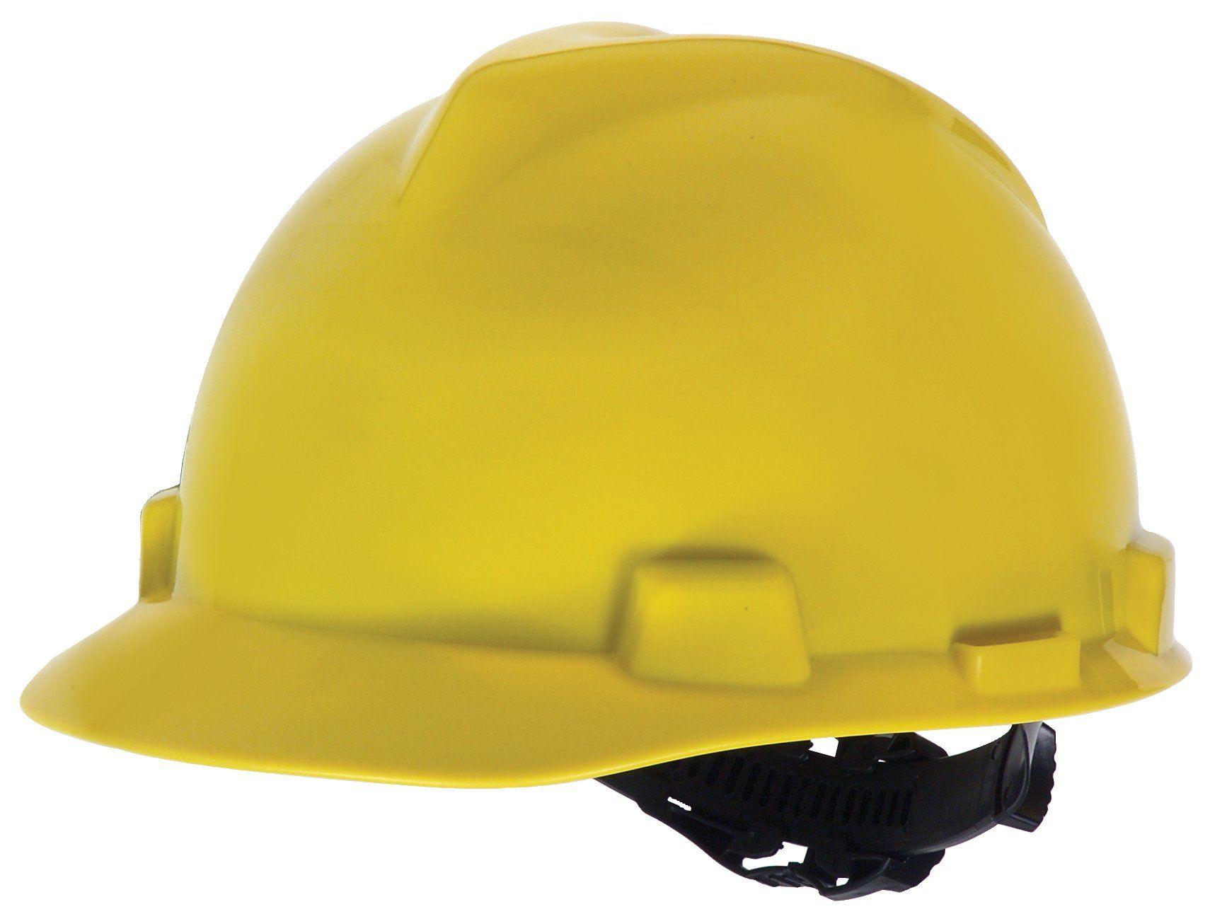 MSA Safety Works 818068 Hard Hat, Yellow Hard hats