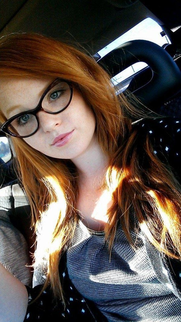 glasses with Redhead girls
