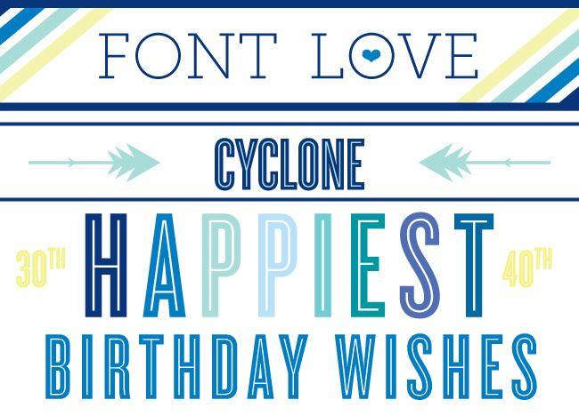 Cyclone font by Hoefler & Frere Jones // via Delphine