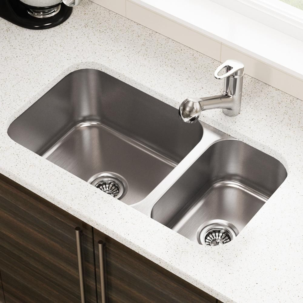 3218B Offset Reversible Stainless Steel Kitchen Sink