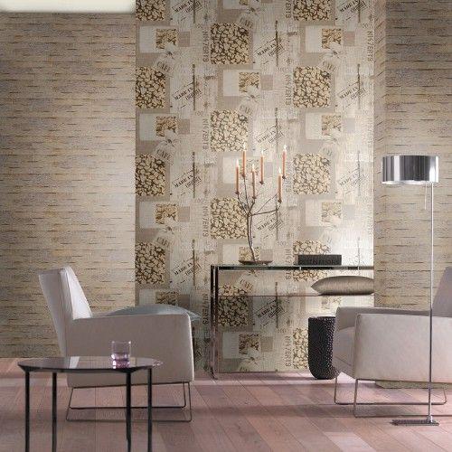 Rasch Aqua Deco 831818 braun creme weiss | Küche | Küchentapeten ...