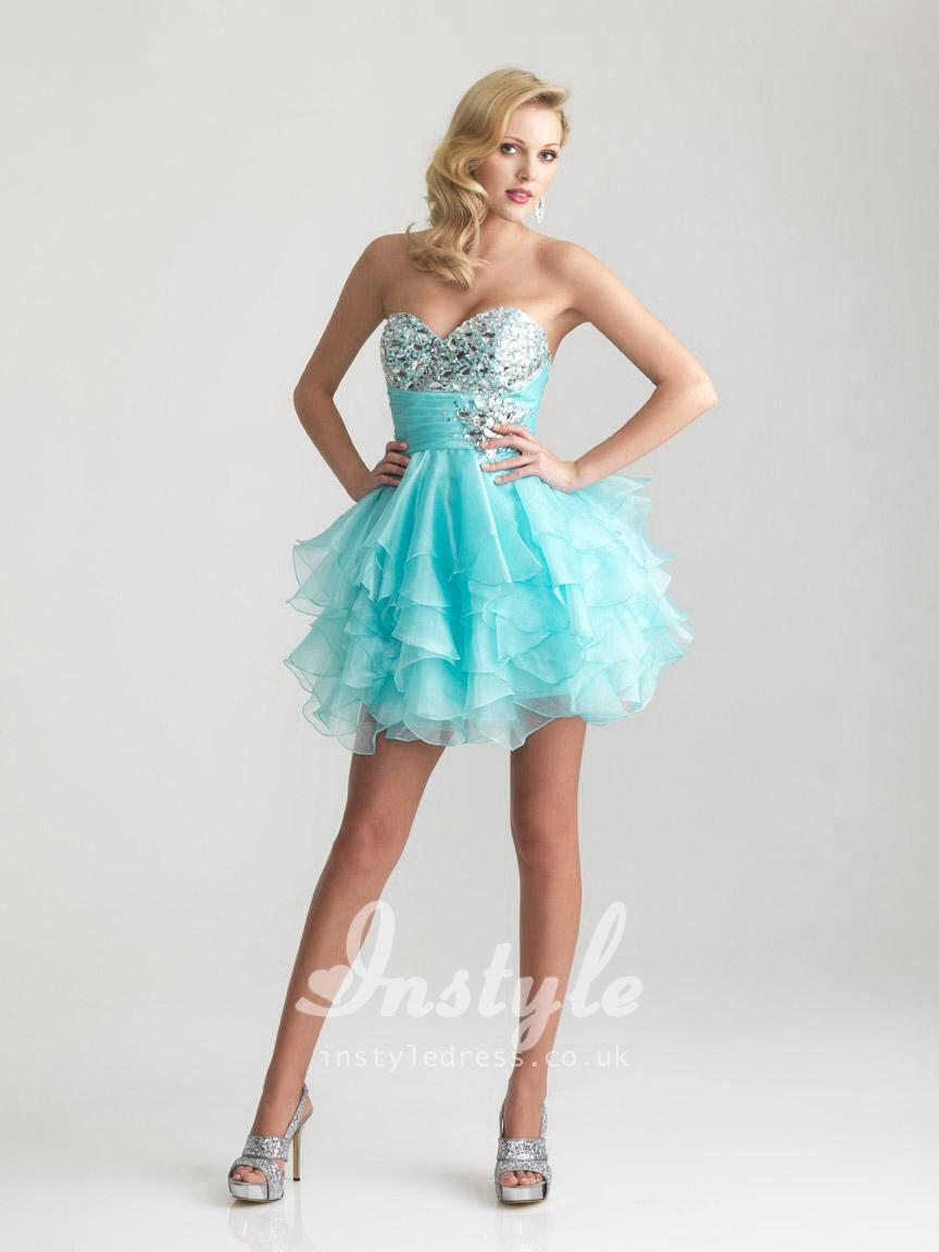 Light blue short dress | 18th birthday party | Pinterest | Light ...