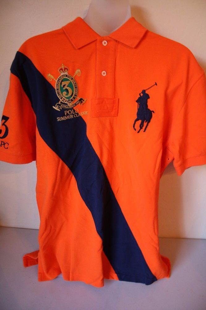 38b62ebd0 Ralph Lauren Polo Men's Summer Classic Mesh Shirt Orange Big Pony Logo  Medium #PoloRalphLauren #PoloRugby