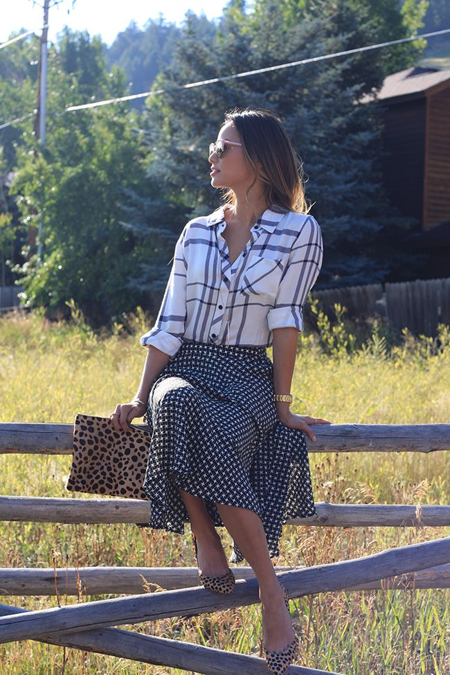 Mixed Prints in Jackson Hole, WY. Street style chic