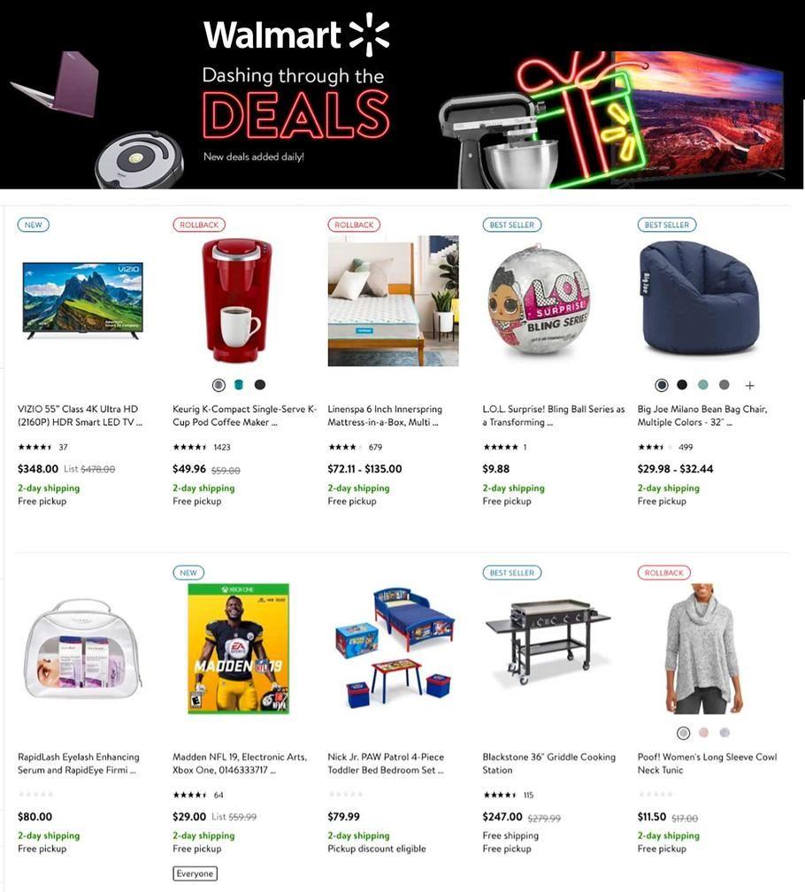 Walmart Dashing Through the Deals 2018 Ads Walmart