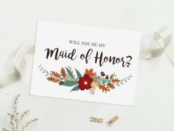 graphic regarding Will You Be My Maid of Honor Printable called Pin upon Solutions