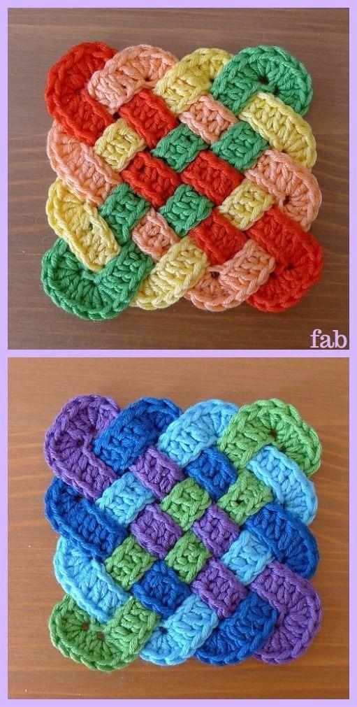 Crochet Celtic Knot Square Free Pattern Kitchen Stuff Crochet