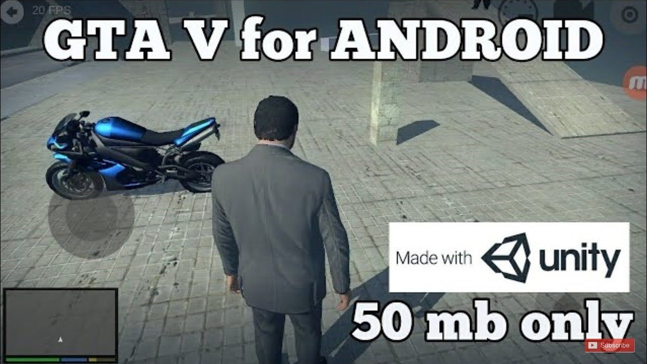 Download GTA 5 Unity APK For Android 50MB Compressed
