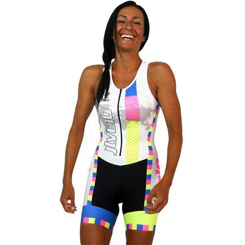 Ladies Triathlon Suit Padded Cycling Running Yoga Womens Tri Suit Swim Suit