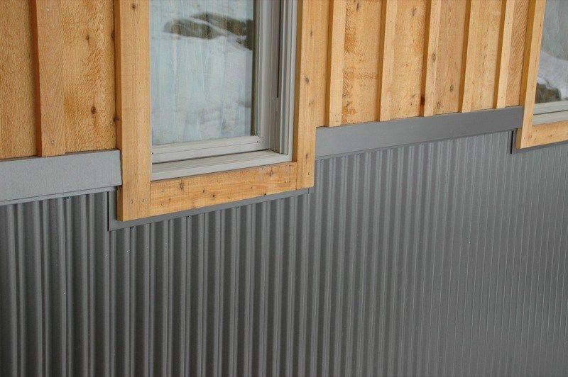 Corrugated Metal Siding Wainscoting Corrugated Metal Siding Metal Siding House Metal Siding