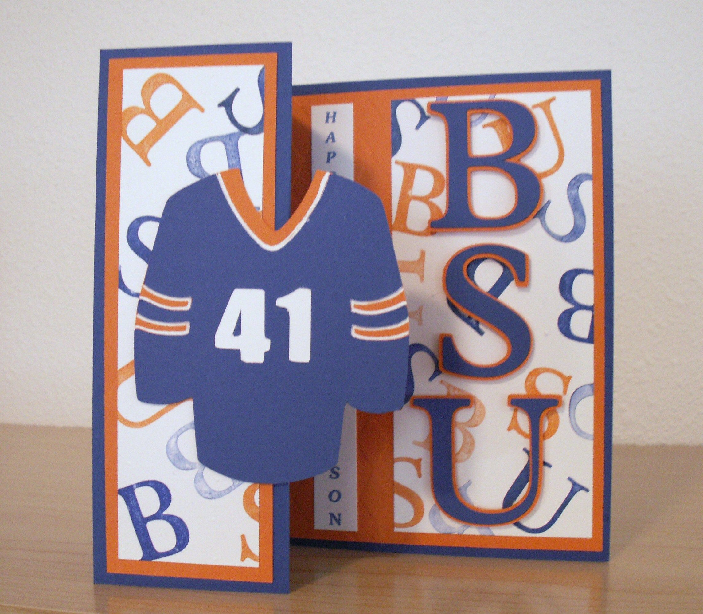 Boise State card made for my daughters boyfriend for his birthday
