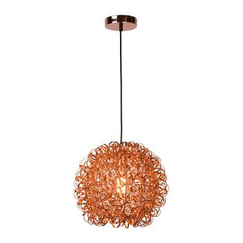 Buy a by amara noon pendant light red copper