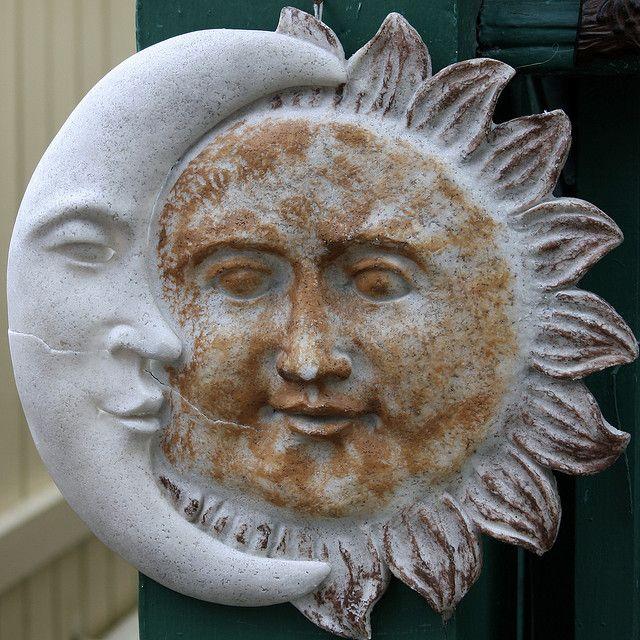 Moon And Sun Garden Ornament Art