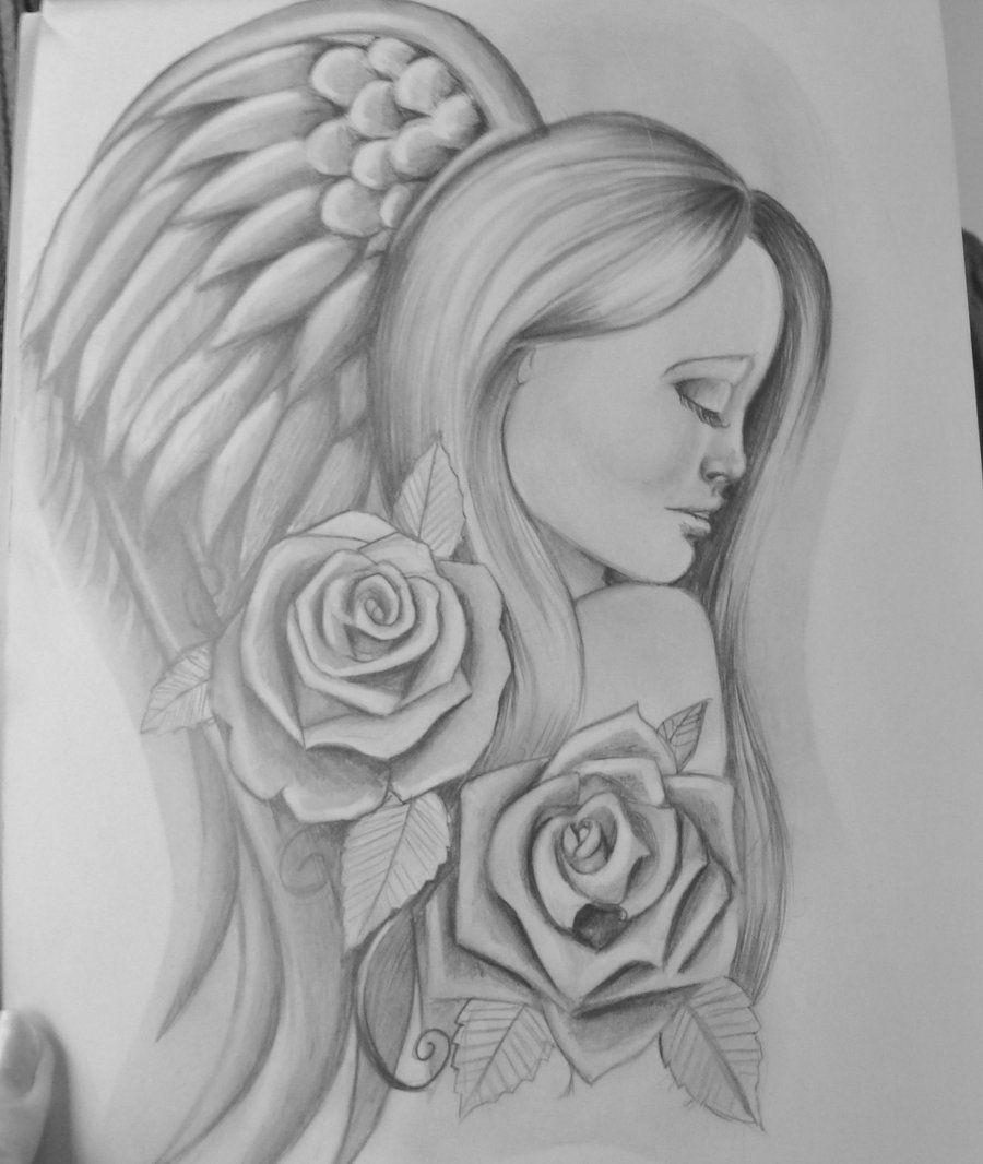 sketches of fantasy angels angel tattoo design by stef g on deviantart sketches of. Black Bedroom Furniture Sets. Home Design Ideas