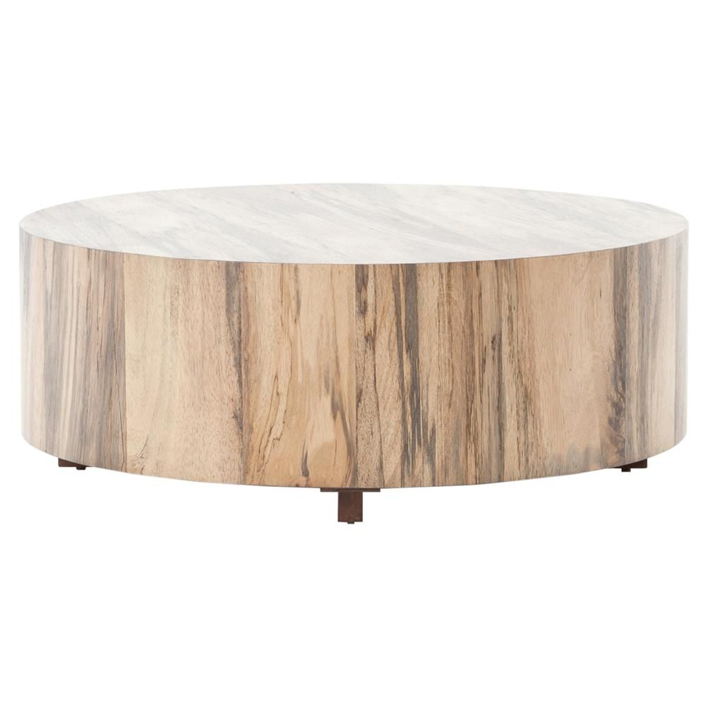 Round Natural Wood Coffee Table 5