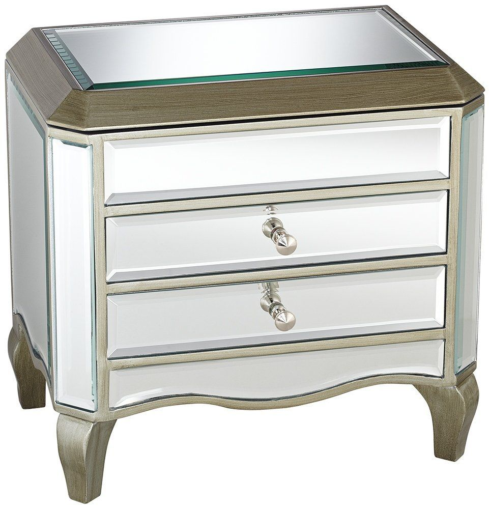 Mirrored Jewelry Box With Drawers Tyres2c