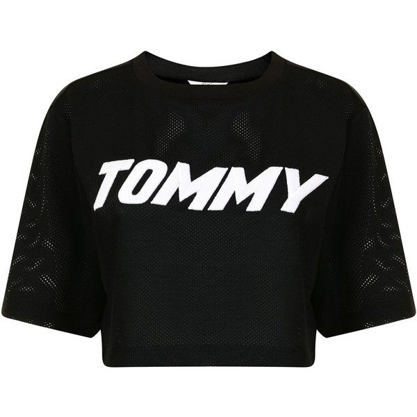 TOMMY X GIGI Race Mesh T Shirt (£70) ❤ liked on Polyvore